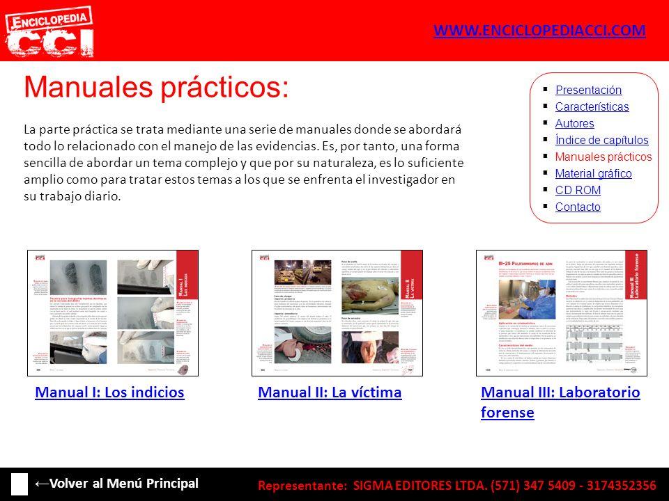 Índice de capítulos: Características Autores Índice de capítulos Manuales prácticos Material gráfico CD ROM Contacto Presentación 20.