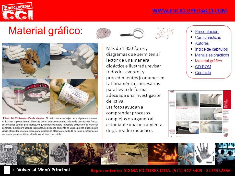 Material gráfico: Características Autores Índice de capítulos Manuales prácticos Material gráfico CD ROM Contacto Presentación Más de 1.350 fotos y di