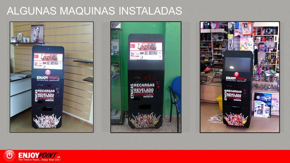 ALGUNAS MAQUINAS INSTALADAS Image Placeholder 1 Image Placeholder 2 Image Placeholder 3