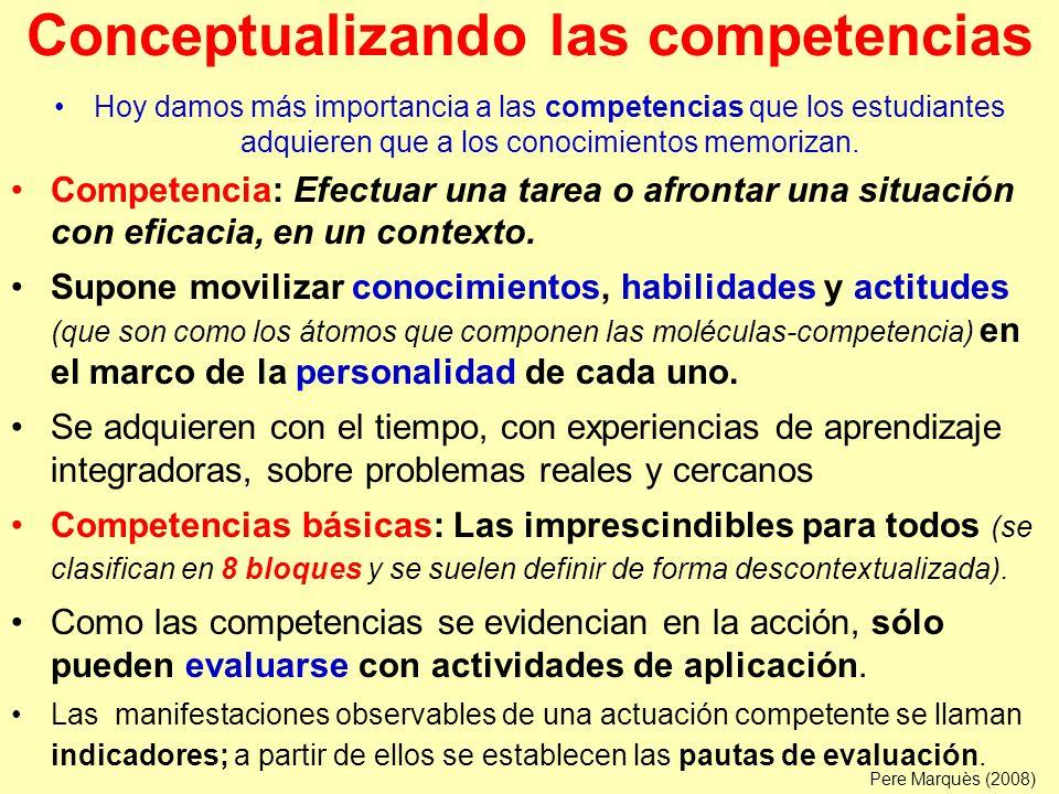 Bloques de competencias básicas (definidos por la LOE, la Unión Europea y otras disposiciones educativas) Comunicación lingüística.