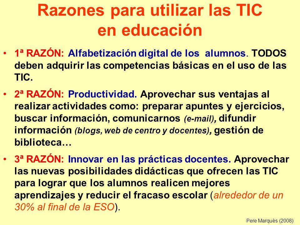 Las TIC en el proceso de aprendizaje Acceso a la información (las TIC ayudan) –Entorno físico, otras personas.