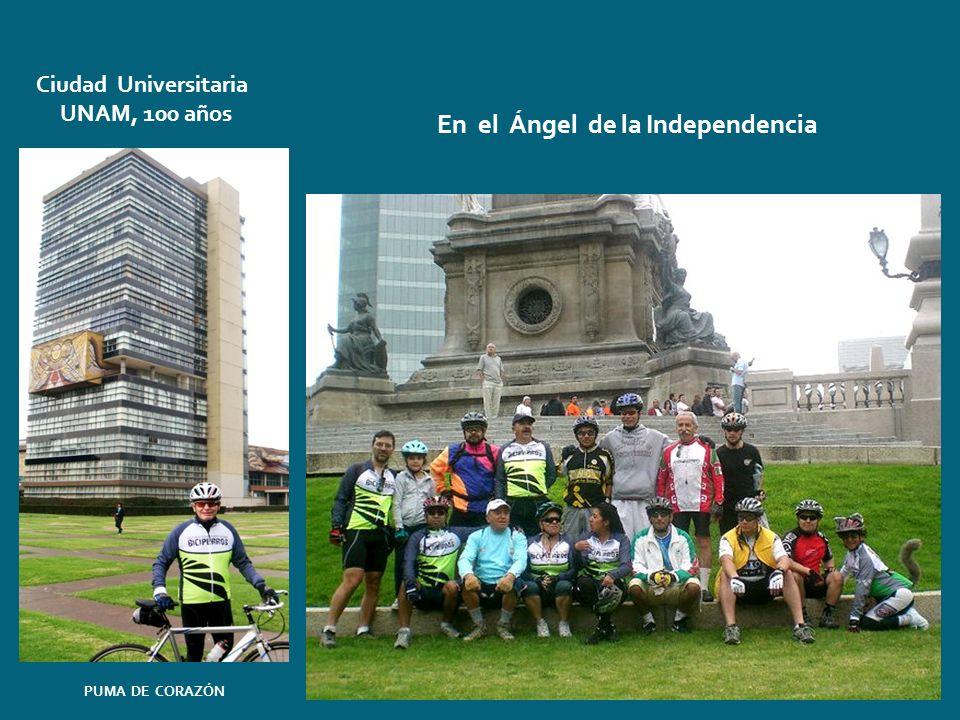 Ciudad Universitaria UNAM, 100 años En el Ángel de la Independencia PUMA DE CORAZÓN