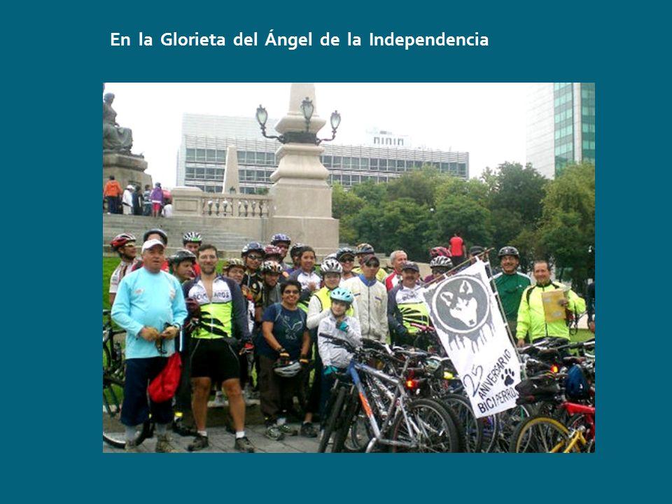 En la Glorieta del Ángel de la Independencia