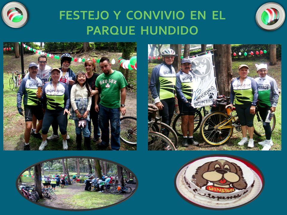 FESTEJO Y CONVIVIO EN EL PARQUE HUNDIDO