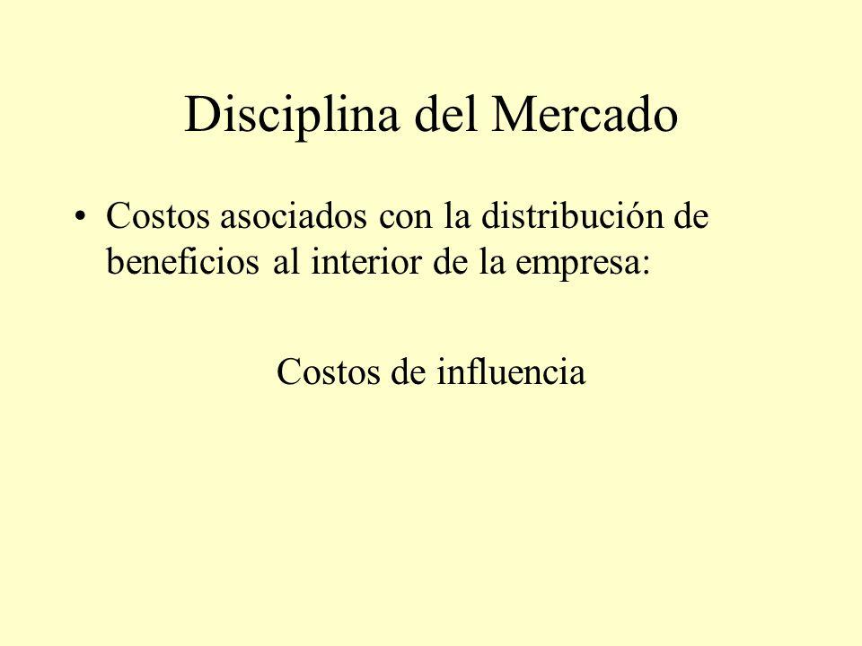 Disciplina del Mercado Costos asociados con la distribución de beneficios al interior de la empresa: Costos de influencia