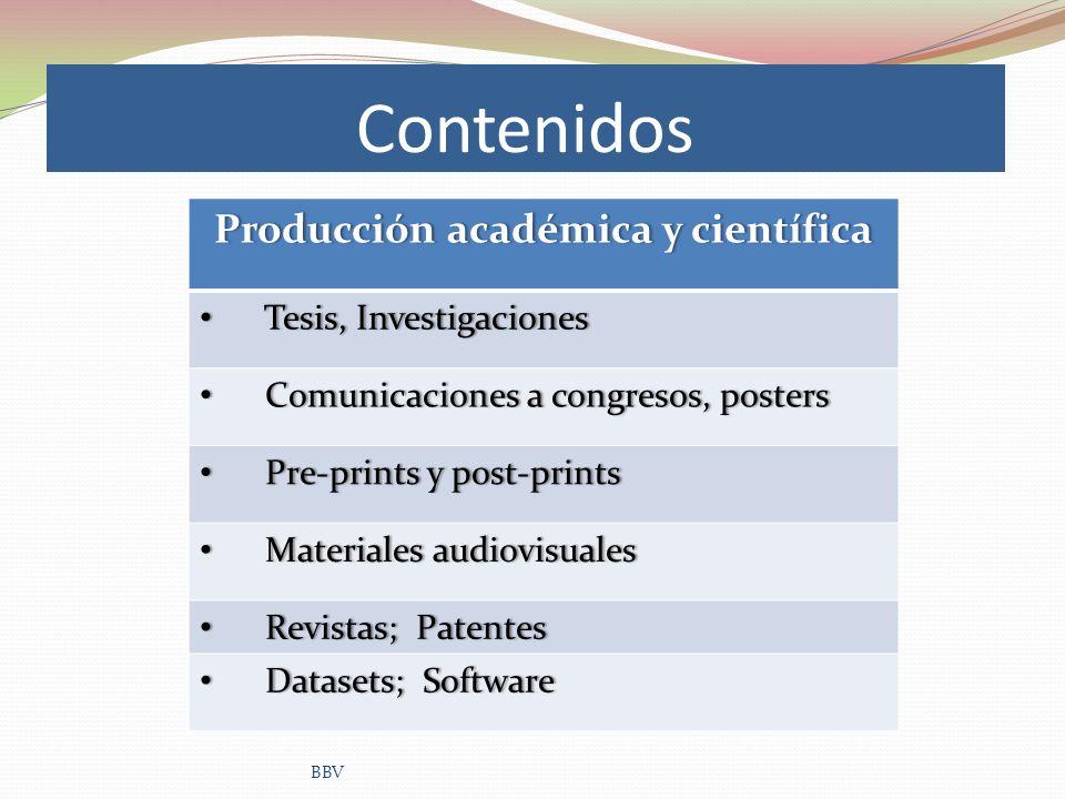 Contenidos BBV Producción académica y científicaProducción académica y científica Tesis, Investigaciones Tesis, Investigaciones Comunicaciones a congr