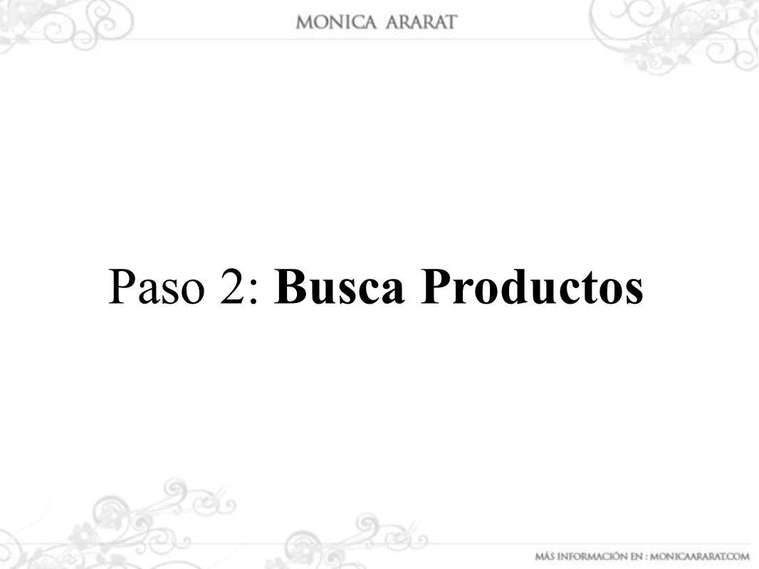 Paso 2: Busca Productos