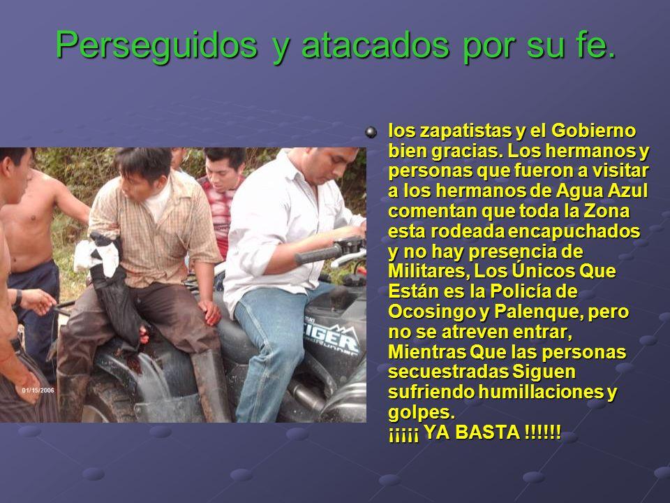 los zapatistas y el Gobierno bien gracias. Los hermanos y personas que fueron a visitar a los hermanos de Agua Azul comentan que toda la Zona esta rod