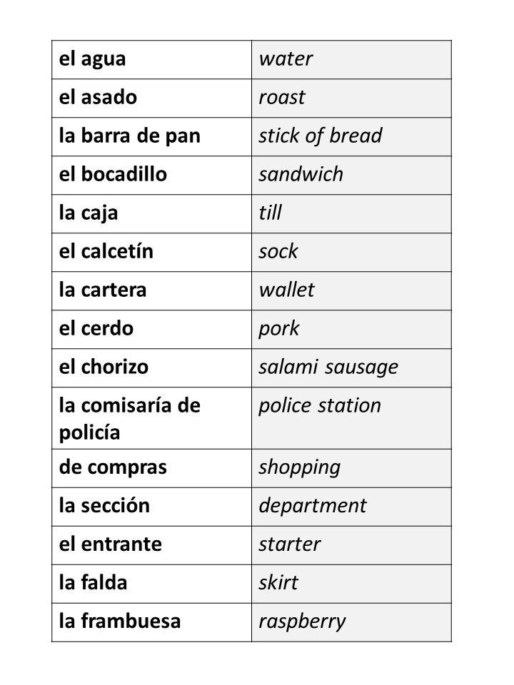 Desafío de vocabulario (20) 1.En España para un picnic también se comen los _______________.