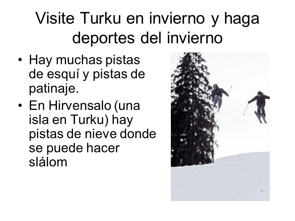 Visite Turku en invierno y haga deportes del invierno Hay muchas pistas de esquí y pistas de patinaje. En Hirvensalo (una isla en Turku) hay pistas de