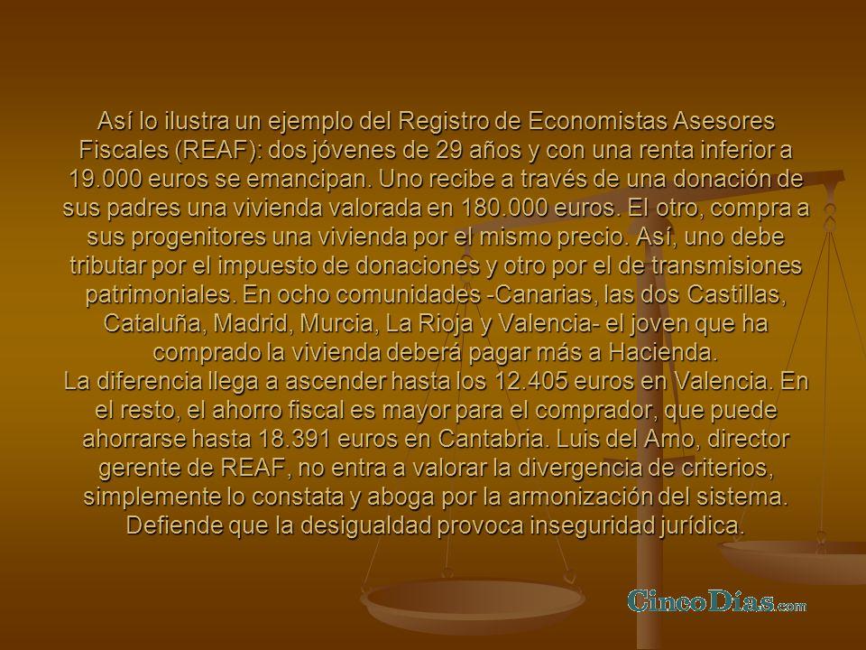 Así lo ilustra un ejemplo del Registro de Economistas Asesores Fiscales (REAF): dos jóvenes de 29 años y con una renta inferior a 19.000 euros se eman