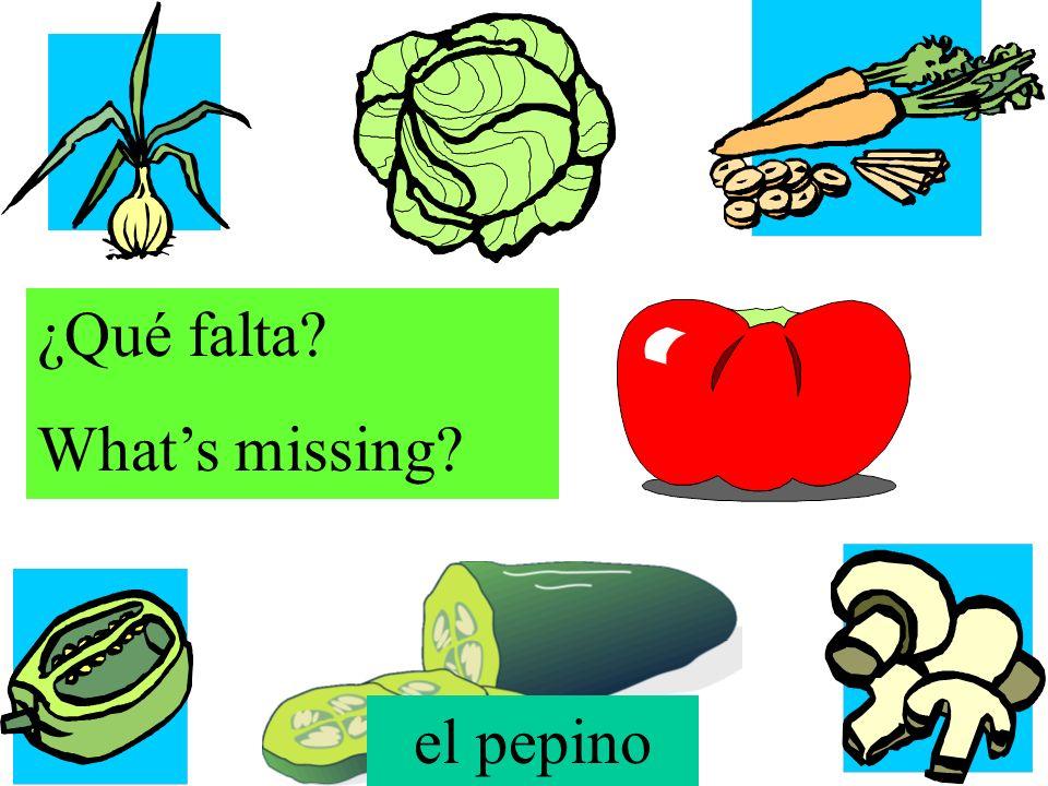 ¿Qué falta? Whats missing? la cebolla