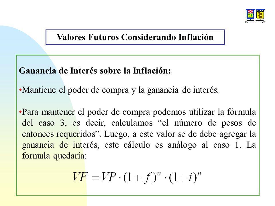 Ganancia de Interés sobre la Inflación: Mantiene el poder de compra y la ganancia de interés.