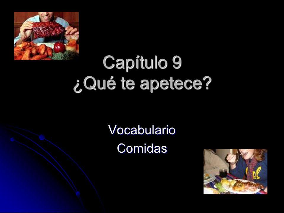 Capítulo 9 ¿Qué te apetece VocabularioComidas