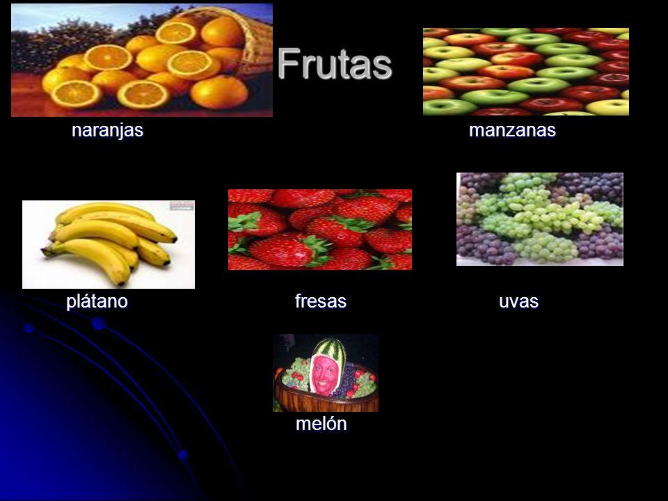 Frutas naranjas manzanas naranjas manzanas plátano fresas uvas plátano fresas uvas melón melón