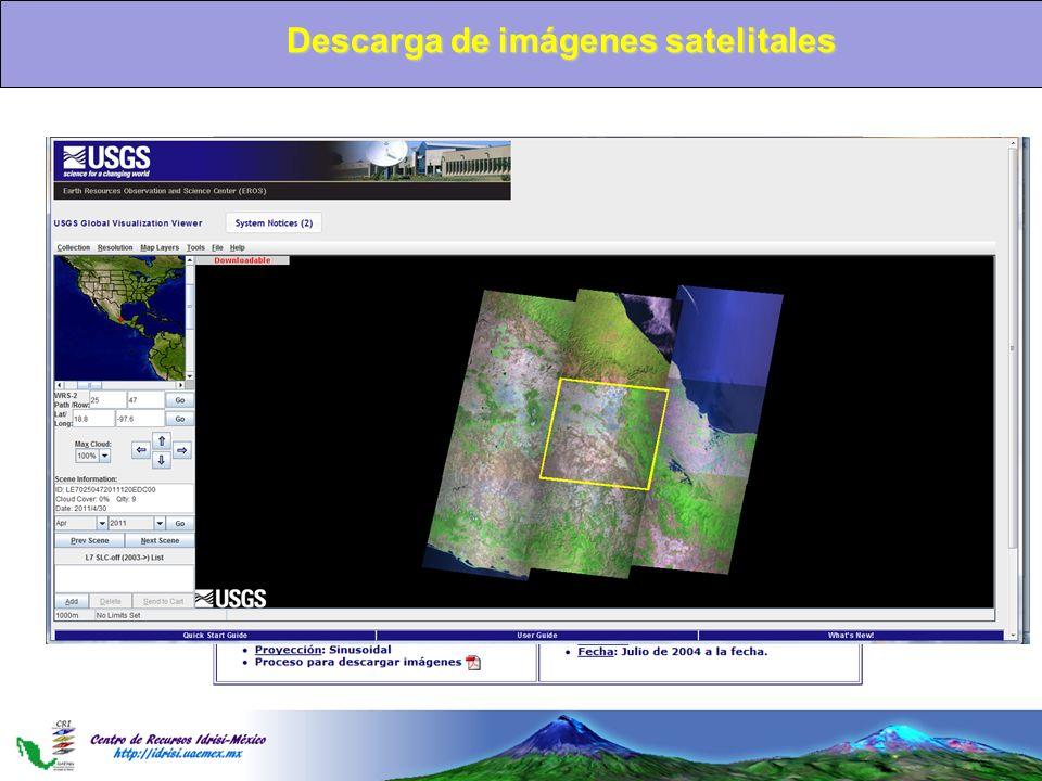 Descargadeimágenessatelitales Descarga de imágenes satelitales