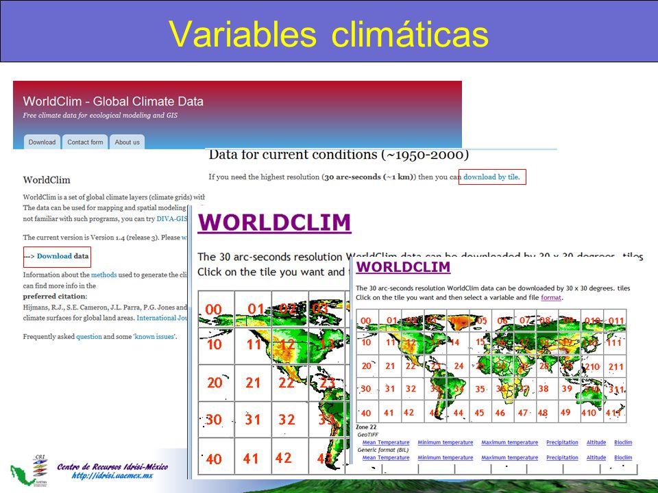 Variables climáticas