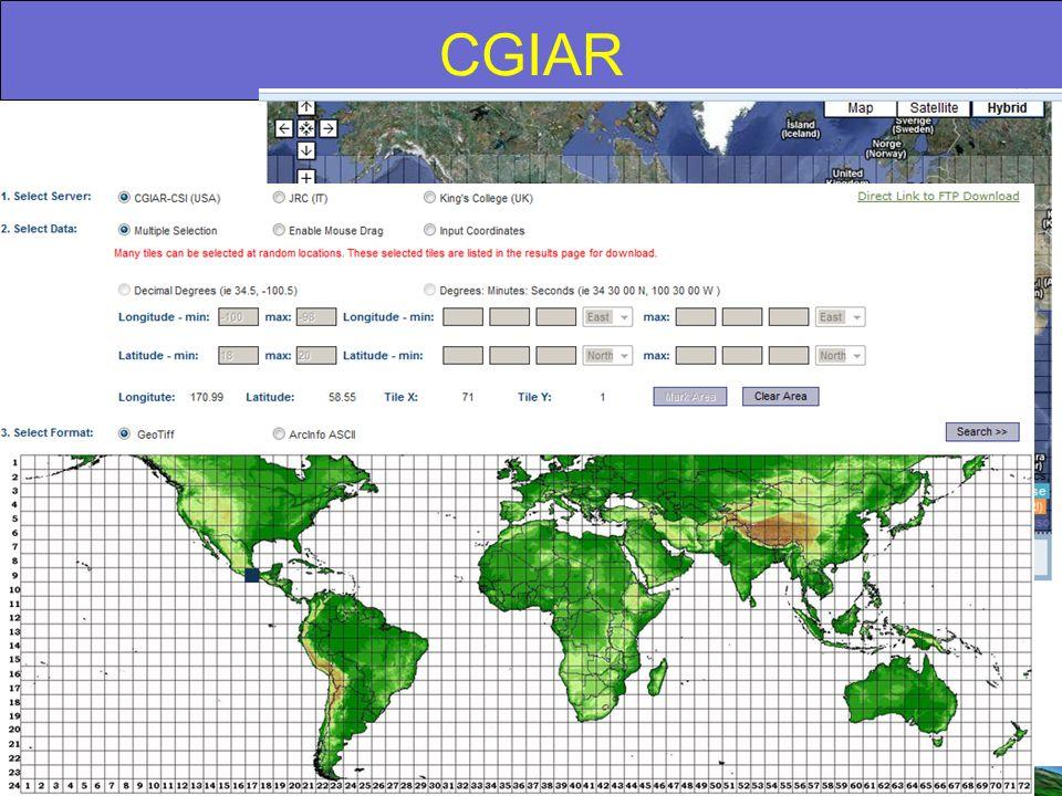 CGIAR Formato: Matricial, 3