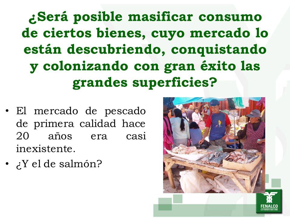 ¿Será posible masificar consumo de ciertos bienes, cuyo mercado lo están descubriendo, conquistando y colonizando con gran éxito las grandes superfici
