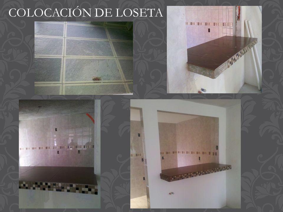 COLOCACIÓN DE LOSETA