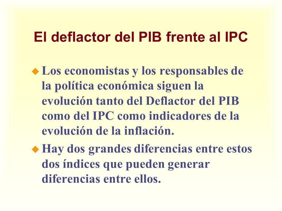 El deflactor del PIB frente al IPC u Los economistas y los responsables de la política económica siguen la evolución tanto del Deflactor del PIB como