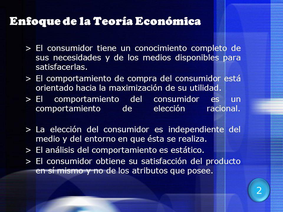 7 >El consumidor tiene un conocimiento completo de sus necesidades y de los medios disponibles para satisfacerlas. >El comportamiento de compra del co