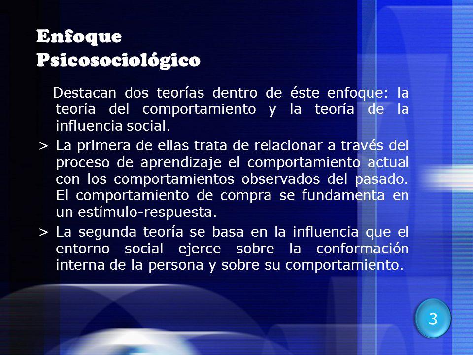 8 Enfoque Psicosociológico Destacan dos teorías dentro de éste enfoque: la teoría del comportamiento y la teoría de la influencia social. >La primera