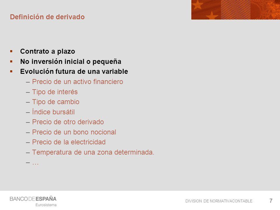DIVISION DE NORMATIVACONTABLE 38 Opción escalera Conjunto de opciones que permiten consolidar valores con independencia de la situación final.