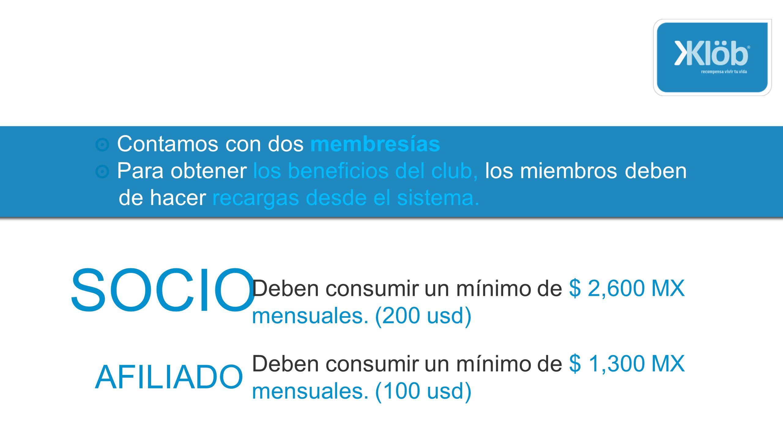 Klöb hace convenios con proveedores importantes, recibirás un monedero de cada uno de ellos.