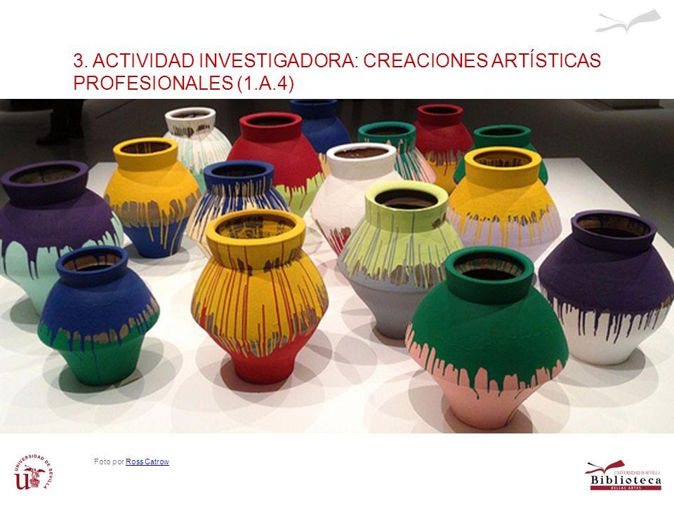 3. ACTIVIDAD INVESTIGADORA: CREACIONES ARTÍSTICAS PROFESIONALES (1.A.4) Foto por Ross CatrowRoss Catrow