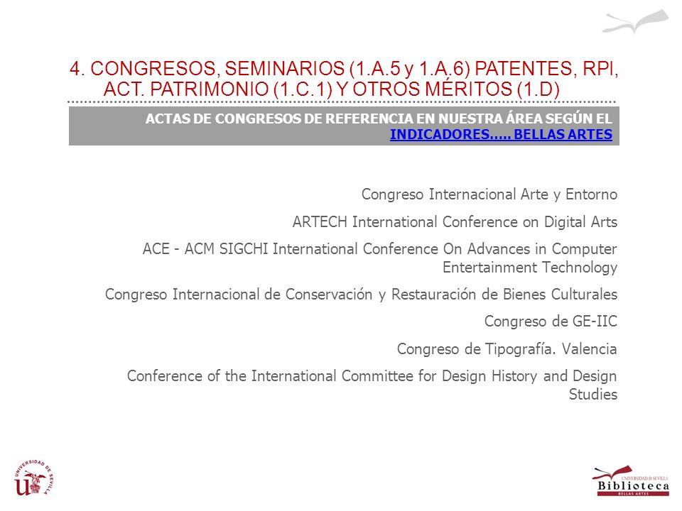 NO EXCLUIDOS Congreso Internacional Arte y Entorno ARTECH International Conference on Digital Arts ACE - ACM SIGCHI International Conference On Advanc