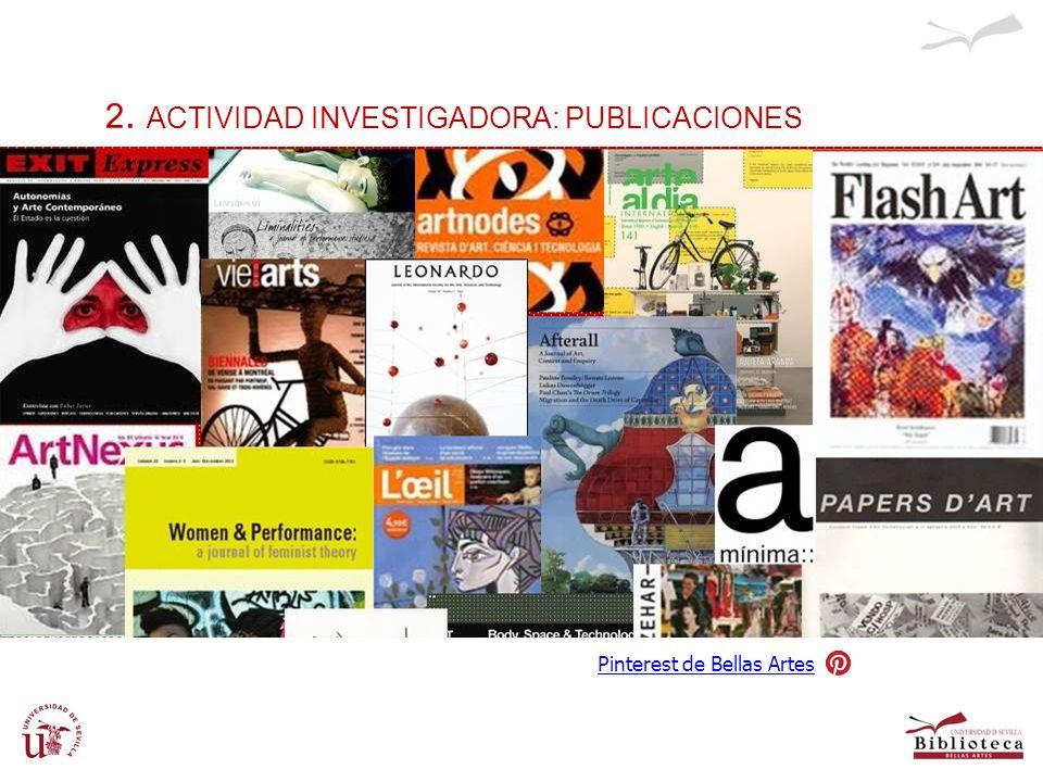 2. ACTIVIDAD INVESTIGADORA: PUBLICACIONES Pinterest de Bellas Artes