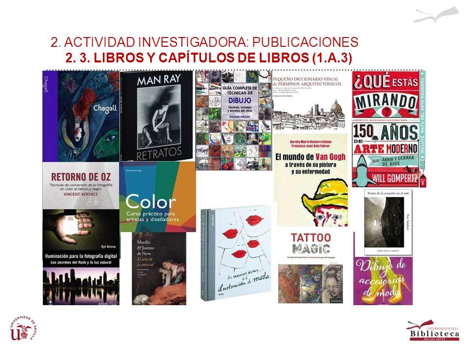 2. ACTIVIDAD INVESTIGADORA: PUBLICACIONES 2. 3. LIBROS Y CAPÍTULOS DE LIBROS (1.A.3)