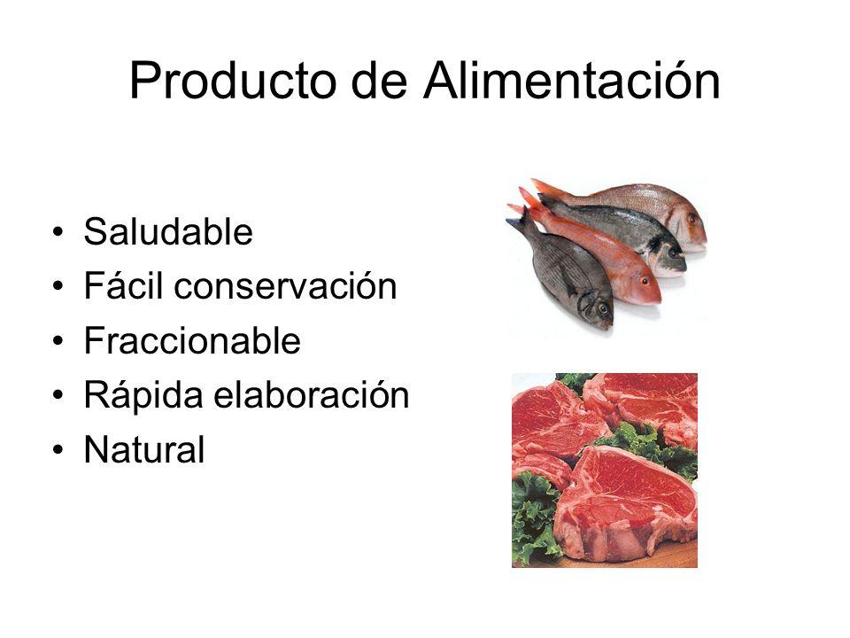 Producto de Alimentación Saludable Fácil conservación Fraccionable Rápida elaboración Natural