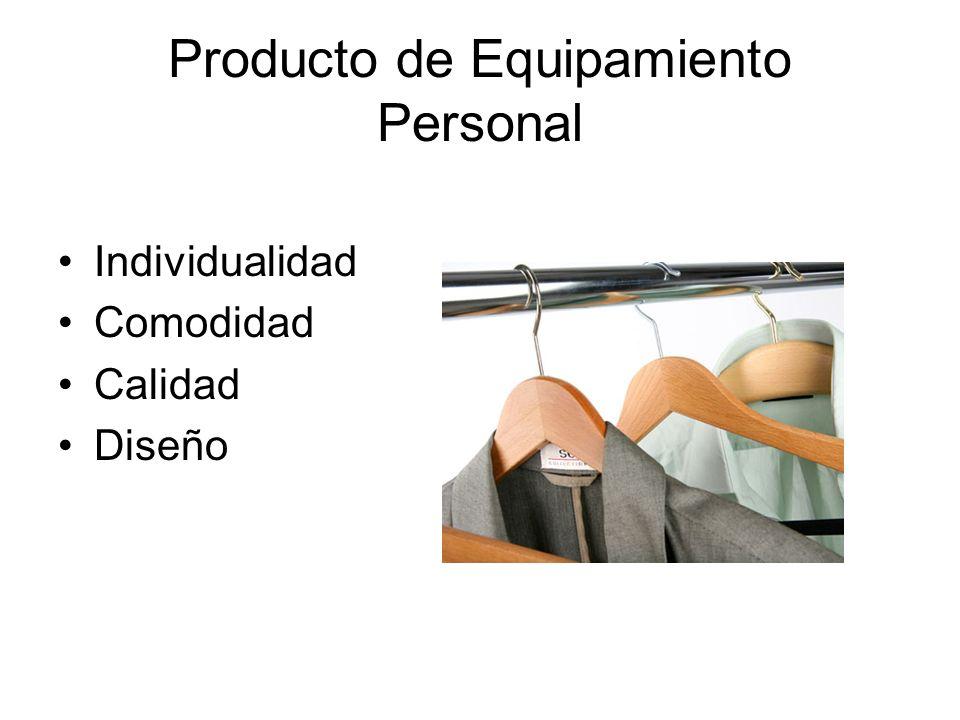 Producto de Equipamiento Personal Individualidad Comodidad Calidad Diseño