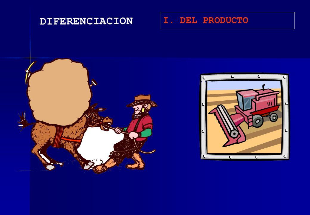 I. DEL PRODUCTO DIFERENCIACION