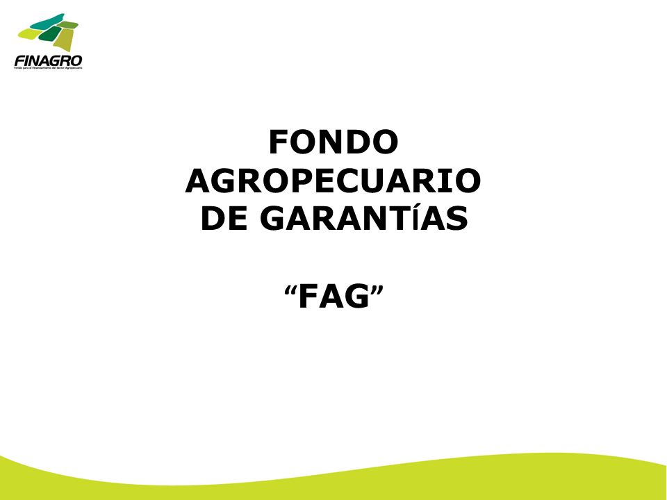 FONDO AGROPECUARIO DE GARANT Í AS FAG