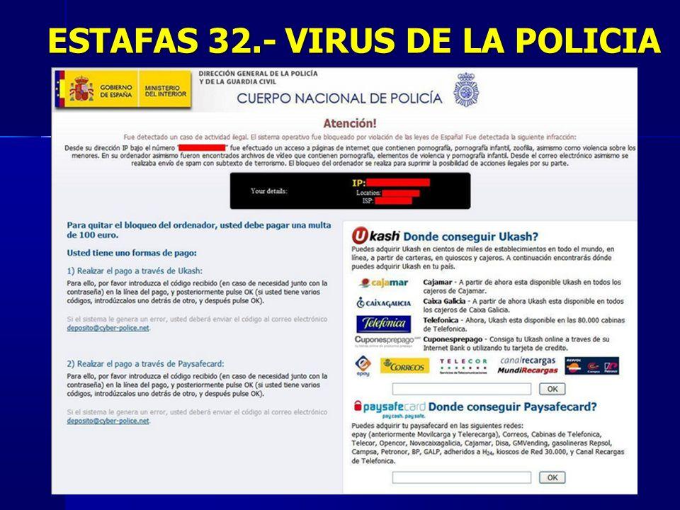 48 ESTAFAS 32.- VIRUS DE LA POLICIA