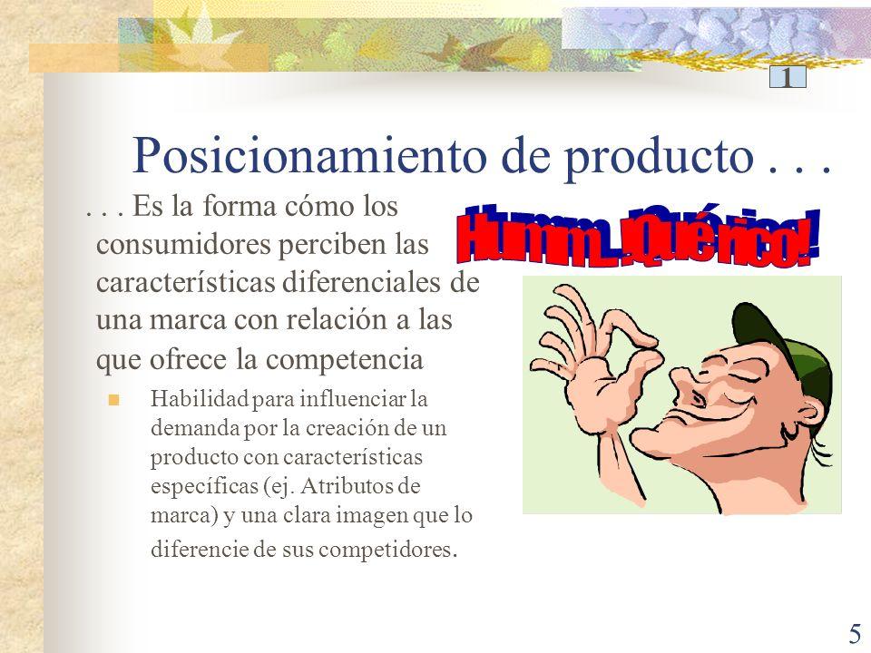 5 Posicionamiento de producto......