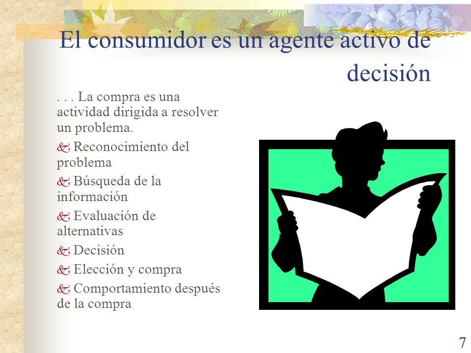 7 El consumidor es un agente activo de decisión...