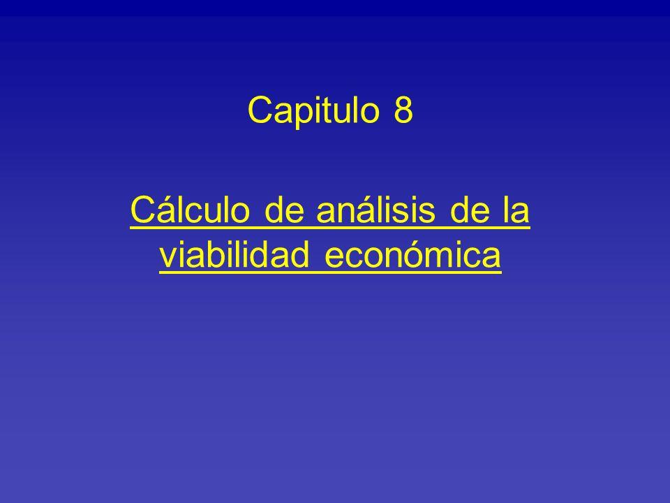 Cálculo de análisis de la viabilidad económica Capitulo 8