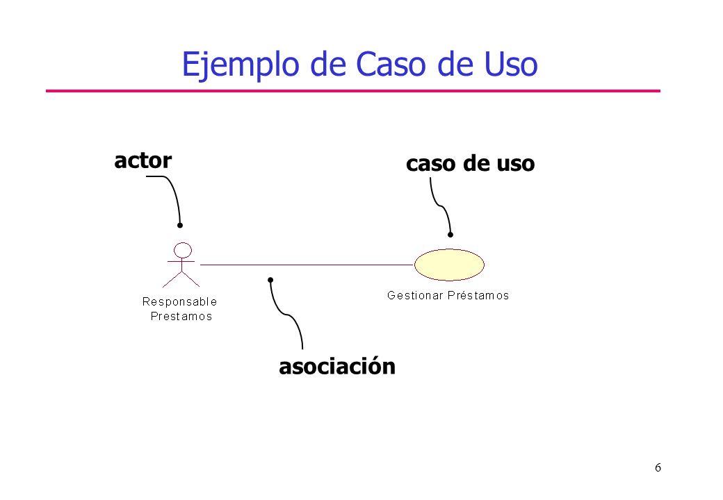 6 Ejemplo de Caso de Uso actor caso de uso asociación