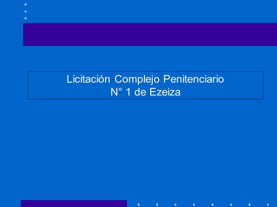 Licitación Complejo Penitenciario N° 1 de Ezeiza
