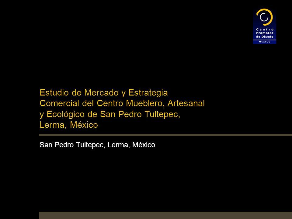 Estudio de Mercado y Estrategia Comercial del Centro Mueblero, Artesanal y Ecológico de San Pedro Tultepec, Lerma, México San Pedro Tultepec, Lerma, México