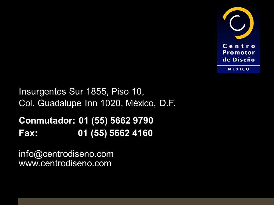 Insurgentes Sur 1855, Piso 10, Col.Guadalupe Inn 1020, México, D.F.