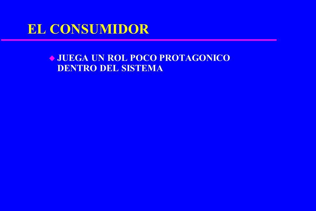 CARACTERIZACIÓN DEL DETALLISTA u GRAN CANTIDAD DE NEGOCIOS. u ESCASO NIVEL PROFESIONAL. u ESCASOS VOLUMENES COMERCIALIZADOS. u ALTOS PORCENTAJES DE PE