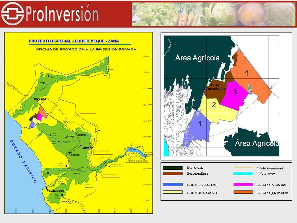 2 1 3 4 Área Agrícola Zona Arqueológica