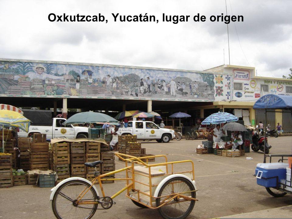 Oxkutzcab, Yucatán, lugar de origen