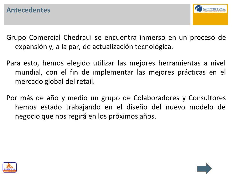 Antecedentes Grupo Comercial Chedraui se encuentra inmerso en un proceso de expansión y, a la par, de actualización tecnológica. Para esto, hemos eleg