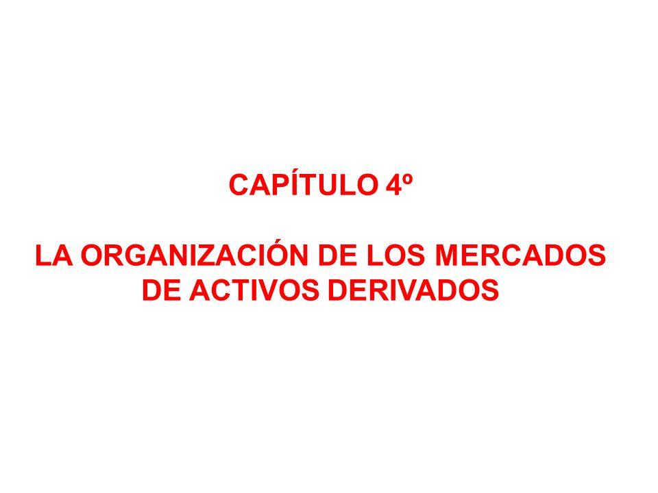 CAPÍTULO 4º LA ORGANIZACIÓN DE LOS MERCADOS DE ACTIVOS DERIVADOS